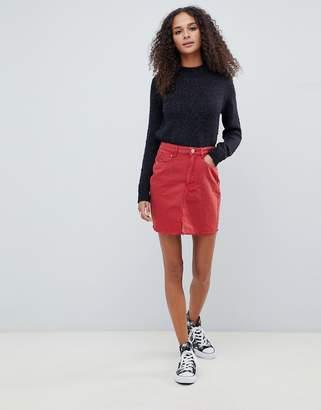 Brave Soul brett raw edge skirt