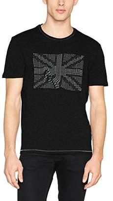 Sisley Men's T-Shirt, Black (Black W/Print 100)