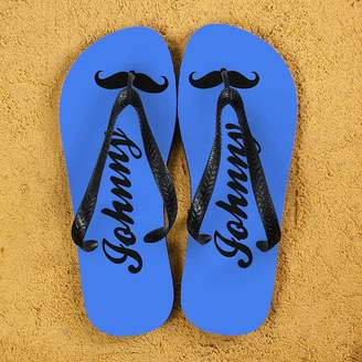 3c5669dde6865 The Letteroom Moustache Style Personalised Flip Flops