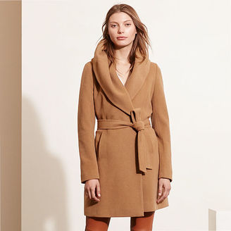 Ralph Lauren Wool-Cashmere Wrap Coat $340 thestylecure.com