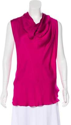 Lanvin Sleeveless Satin Top