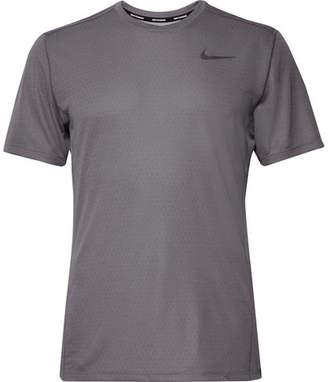 Nike Running Miler Printed Dri-Fit Mesh T-Shirt