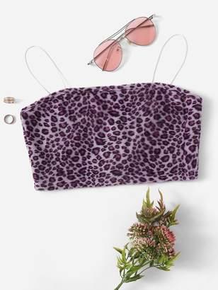 Shein Leopard Print Cami Top