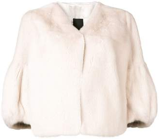 Liska collarless cropped jacket