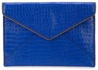 Rebecca Minkoff zip detail envelope clutch bag