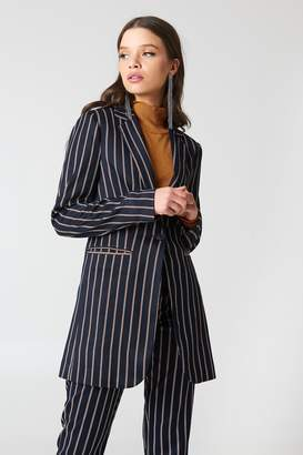 NA-KD Na Kd Striped Long Blazer