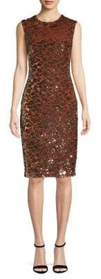 Vince Camuto Sequin-Embellished Knee-Length Dress