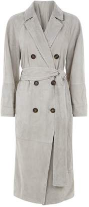 Brunello Cucinelli Suede Trench Coat
