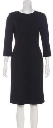 St. John Long Sleeve Knee-Length Dress