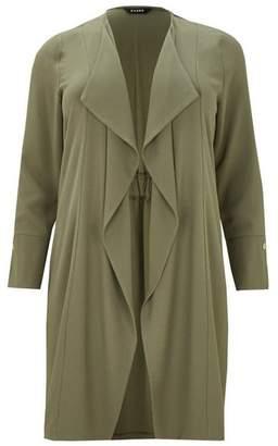Evans Khaki Stud Longline Jacket
