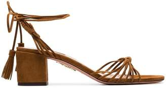 Aquazzura brown Mescal 50 strappy suede sandals