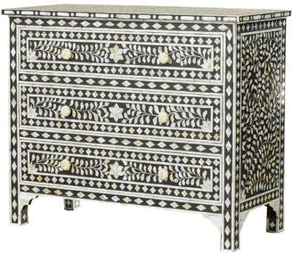Bungalow Rose Irvington Traditional 3 Drawer Accent Chest