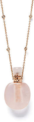 Jacquie Aiche Rose Quartz Potion-Bottle Necklace