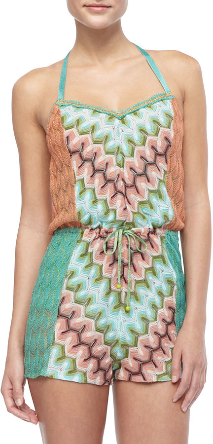 Missoni Patterned Tie-Waist Jumpsuit