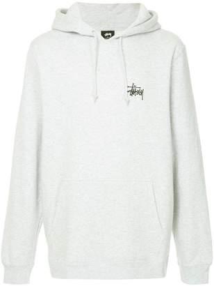 Stussy rear logo print hoodie