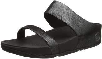 FitFlop Women's Lulu Shimmersuede Slide Sandal