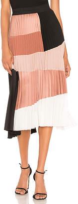 Nude Colorblock Skirt
