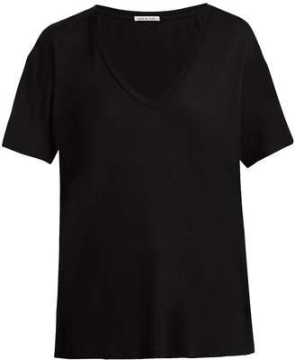 FRANCES DE LOURDES Frankie V-neck jersey T-shirt