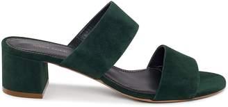 Mansur Gavriel Suede 40mm Double Strap Sandal