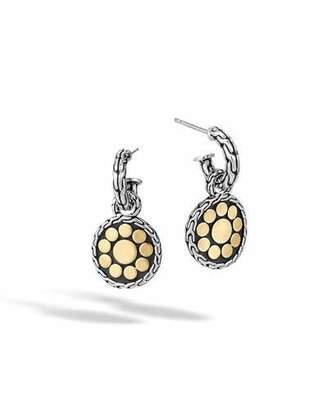 John Hardy Dot Sterling Silver & 18K Gold Round Drop Earrings
