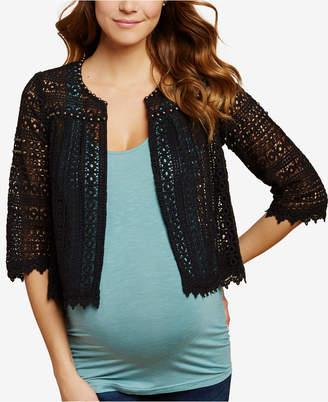 Jessica Simpson Maternity Draped Cardigan
