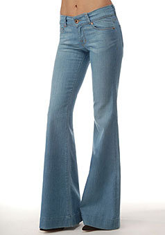J Brand Love Story Low Rise Bell Bottom Jean in Oniel Wash