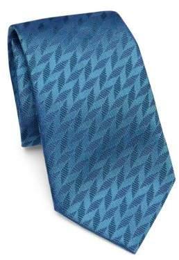 Emporio Armani Sky Blue Chevron Tie