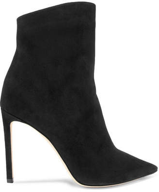 Jimmy Choo Helaine 100 Suede Ankle Boots - Black
