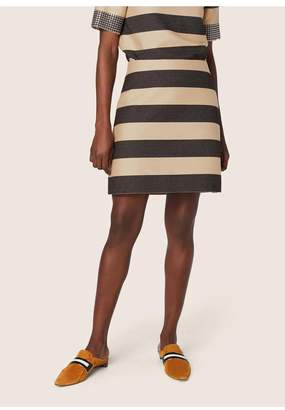 Derek Lam Striped A-Line Skirt