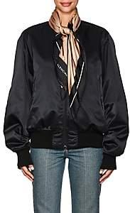 Balenciaga Women's Scarf Bomber Jacket - Black