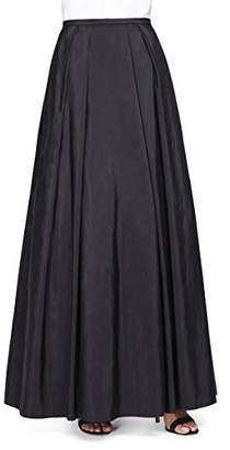 Alex Evenings Women's Long Taffeta Skirt