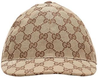 Gucci Logo Cotton Gabardine Baseball Hat