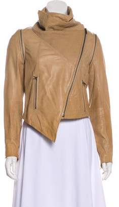 Yigal Azrouel Leather Zip-Up Jacket