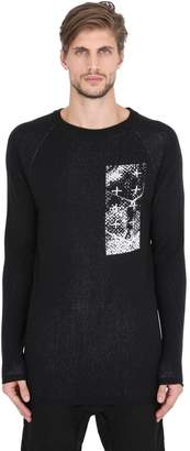 11 By Boris Bidjan Saberi Intarsia Wool Knit Sweater