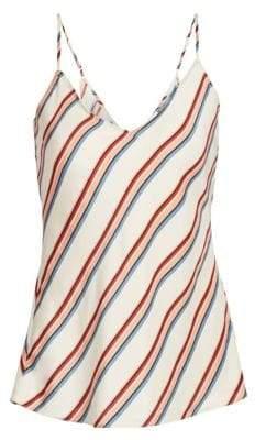 Frame Striped Silk Camisole Top