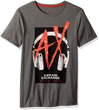 Armani Exchange A|X Men's Headphones Graphic Logo tee