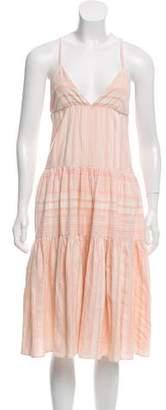 Mara Hoffman Striped Sleeveless Midi Dress