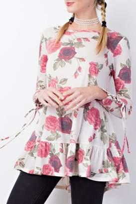 Easel Floral Details Top