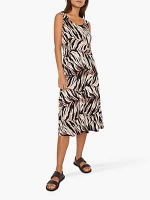 Warehouse Abstract Midi Dress, Animal