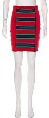 Zac Posen Z Spoke by Printed Mini Skirt