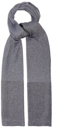 Missoni Metallic Stripe Fine Knit Scarf - Womens - Silver
