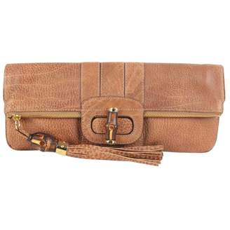 Gucci Camel Leather Clutch Bag