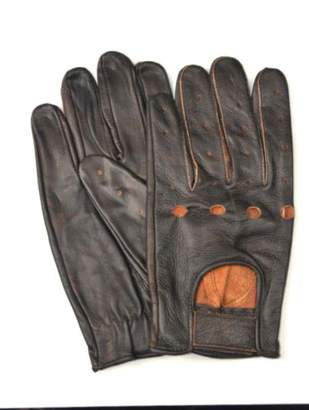 SIC Men's Genuine Leather Unlined Driving Gloves Distressed (, XL)