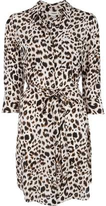 L'Agence leopard print shirt dress