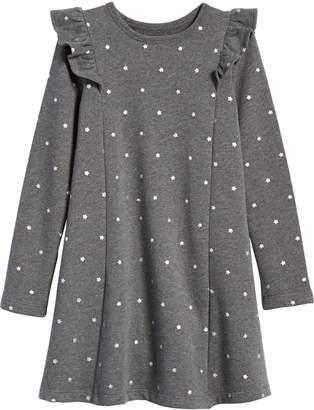 Tucker + Tate Ruffle Fleece Sweater Dress
