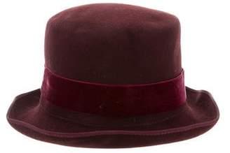 Filù Hats Velvet-Trimmed Felt Hat