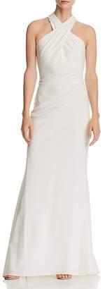 Eliza J Cross-Neck Gown