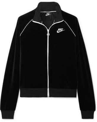 Nike Stretch-velour Track Jacket - Black