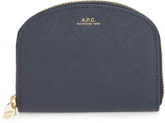 A.P.C. Porte Monnaie Demilune Leather Wallet
