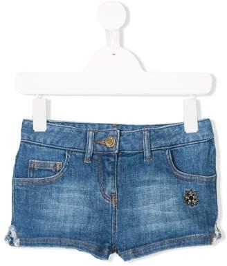 Zadig & Voltaire Kids star patch denim shorts